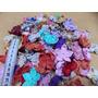 Kit Com 100 Fuxicos Formato Flores 5 E 4 Pétalas