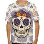 Camiseta Caveira Mexicana Replique Infantil