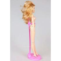 Suporte Boneca De Pé Barbie Monster High Susi Ken Rosa Linda