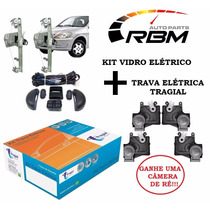 Kit Vidro Elétrico Celta Novo Traseir+trava Elétrica Tragial