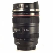 Caneca Lente Canon Ef 24-105mm 1:4 Usm Câmera Copo