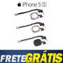 Botão Home Iphone 5s Preto/branco/dourado Completo+cabo Flex