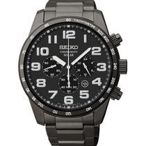Relógio Seiko Solar Sport Ssc231 Cronografo Black