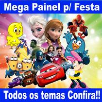 Painel Decoração Festa 100x150 Cm Minions, Frozen Vingadores
