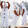 Fantasia Adulto Olaf Boneco Anna & Elsa Frozen - P. Entrega