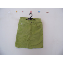 Saia Verde Jeans Cintura Alta Cód. 589
