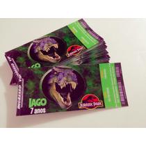 50 Convite Ingresso Aniversário Jurassic Park World