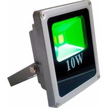 Refletor Holofote Led 10w Verde Prova D´água Pronta Entrega