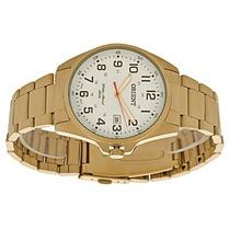 Relógio Orient Dourado Masculino Calendário Wr 50m Mgss1048