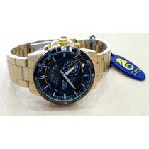 Relógio Original Atlantis Wigman Dourado Ana - Digi
