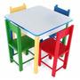 Mesa Infantil Com 4 Cadeiras Em Mdf / Madeira - Carlu 5017