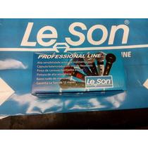 Microfone Leson Sm58 Bk Profissional Preto