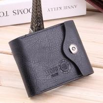 Carteira Com Porta Moedas Couro Leather Pu. Ótimo Presente