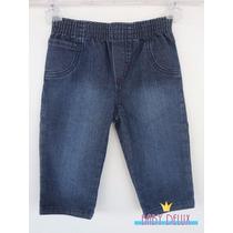 Calça Jeans Para Bebê Com Cintura De Elástico Super Macio