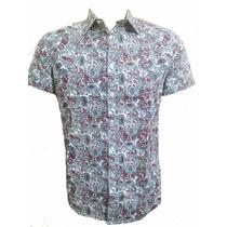 Camisa Masculina Estampadas Floral Manga Curta