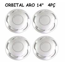Jogo Calota Orbital Aro 14 Prata - Fixação Pressão - Gol Vw