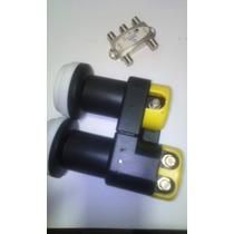 Kit Lnb Carona 2x1 Banda Ku (61w+61w Key+70w)+chave Diseq