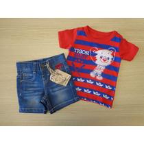 Conjunto Tigor T Tigre Camiseta E Short Marinheiro Pb/gb