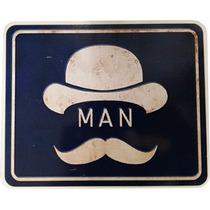 Quadro Placa 23x19cm Indicador Banheiro Masculino Promoção