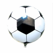 Balão Metalizado Bola Futebol Kit Com 16 Unidades