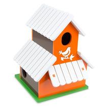 Sobrado Para Pássaros Branco/laranja 7024 - Carlu