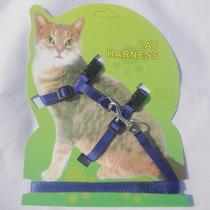 Coleira Peitoral Com Guia Para Gatos - Vermelho - Frete 9,60