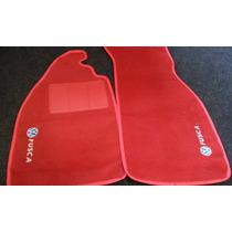 Tapetes Automotivos Fusca Em Carpe Vermelho Personalizados