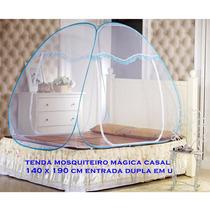 Kit Mosquiteiro Casal + Solteiro 80 Azul Frete Grátis