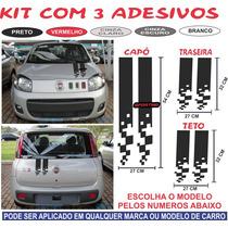 Adesivo Novo Uno Way Vivace Capo Traseira Teto Sporting