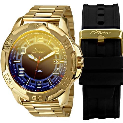 Relógio Condor Masculino Troca Pulseiras Co2415aj / 4a