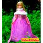 Vestido De Luxo Princesa Disney Rapunzel Para Boneca Barbie