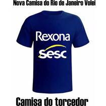 Camiseta Volei, Torcida Do Rio Rexona, Novo Modelo