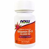 Vitamina D3 10.000 Ui 120 Softgels Now Foods Pronta Entrega