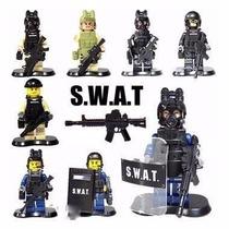 Swat Forças Especiais Exercito Armas Acessório Lego Policial