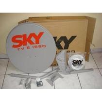Antena Satelite Ku + Cabo + Fixação