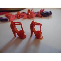 Sapato Salto Sandália Para Barbie Modelo 3 Vermelho Importad