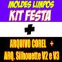 Moldes Limpos Kit Festa Digital + 72.000 Vetores + Brinde