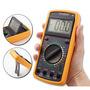 Multimetro Digital Aviso Sonoro Leitor Lcd + Capa Dt-9205