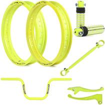 Kit Viper Aros Motard E Acessórios Para Fan 150 Esdi Amarelo