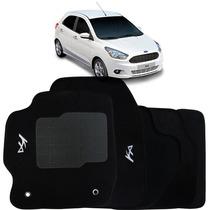 Tapete Carpete Ford Ká 2015 Personalizado Preto - 3 Peças