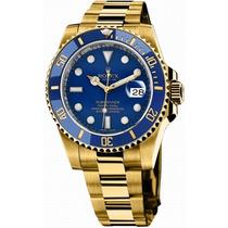 Relógio Submariner Azul E Dourado Sedex Gratis Garantia