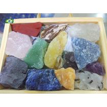 Coleção Pedras Preciosas Brasileiras Brutas Naturais 4cm