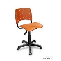 Cadeira Giratória Plástica Secretária Ergoplax Laranja