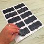 Adesivo Decorativo Lousa Quadro Negro, 10 Etiquetas E 3 Giz