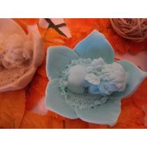 Molde De Silicone Bebê Anjo Deitado Na Flor