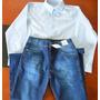 Conjunto Camisa Social + Calça Jeans