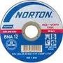 Disco Corte Aluminio Norton 22mm Fino 4/12 Kit 10 Unid.
