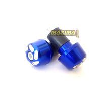 Peso De Guidão Alumínio Universal Moto Azul