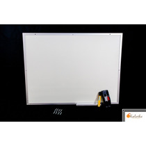 Lousa Quadro Branco Moldura De Aluminio 120x80 Cm + Brindes