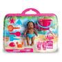 Boneca Bebê Mania Praia 4507 Negra - Roma Brinquedos